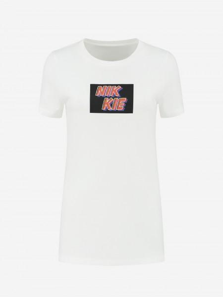 Wit T-shirt met NIKKIE artwork