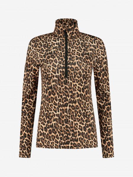 Longsleeve with leopard print