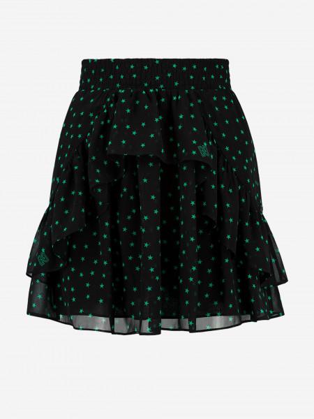 Skirt with star print