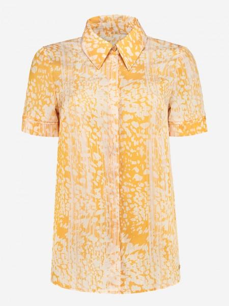 Gele blouse met all over print