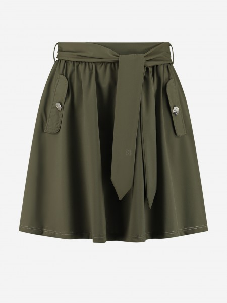 Skirt with flap pockets