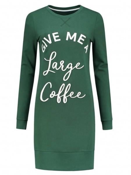 Large Coffee Sweatdress