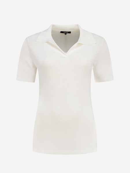 Polo top with short sleeves