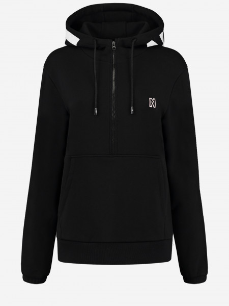 Hoodie with zipper and logo