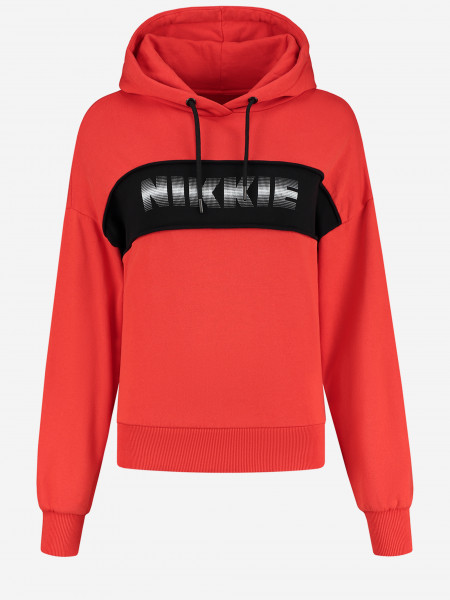 hooded sweater with NIKKIE artwork