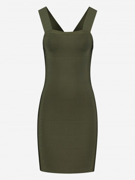 FITTED DRESS WITH SHOULDER STRAPS