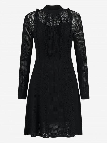 Knitted ruffle dress