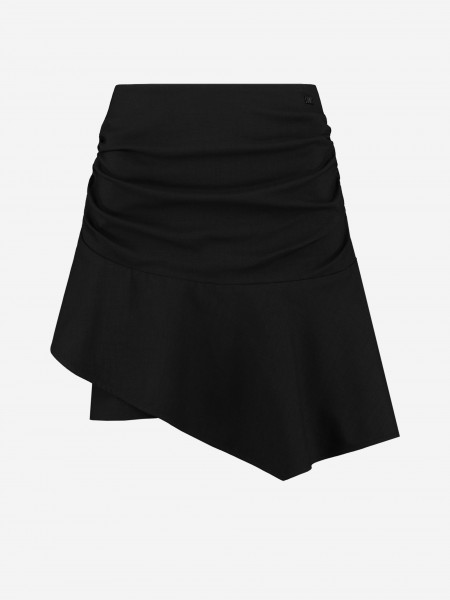 Black draped skirt