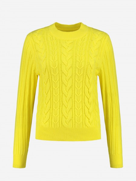 SWEATER WITH KNITTED STRUCTURE