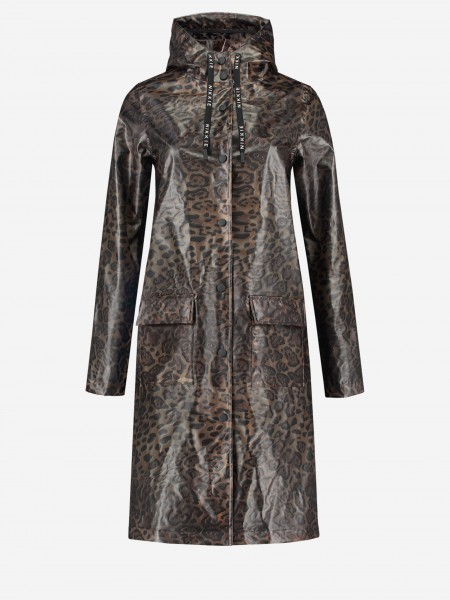 Raincoat with all over leopard print