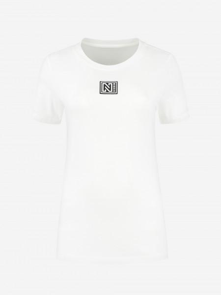 T-shirt met logo patch