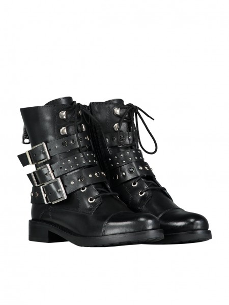 Embellished Strap Boots