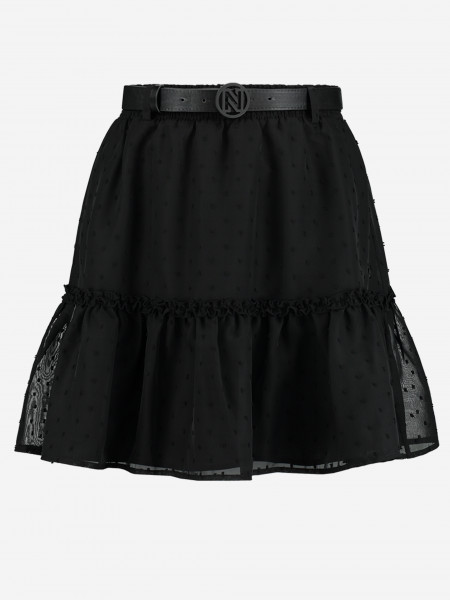 Black skirt with dots