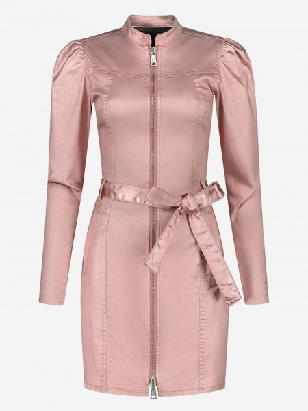 Metallic dress with zipper