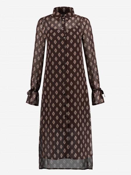 Midi dress with graphic print