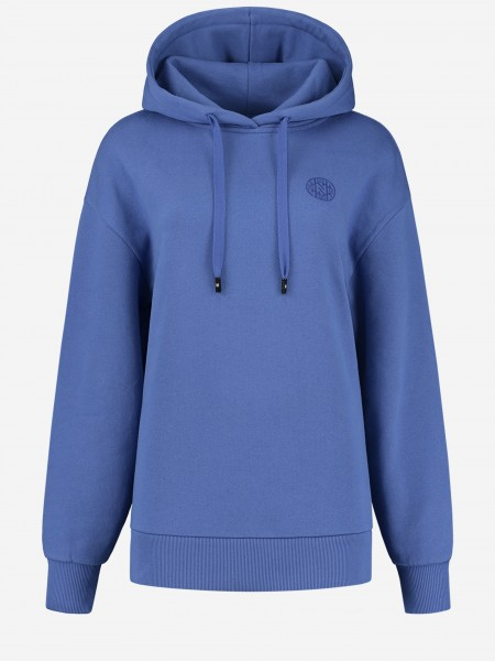 Blue hoodie with N-artwork