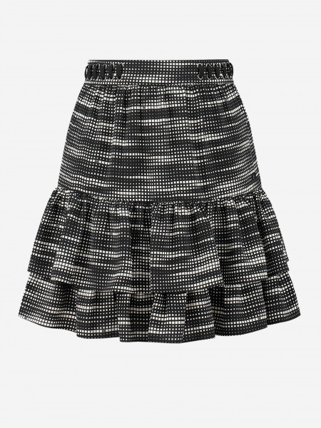 Skirt with geometric print