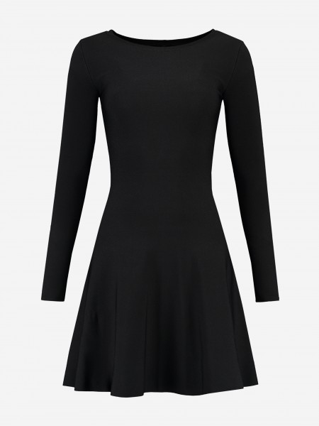 A-line dress with long sleeves
