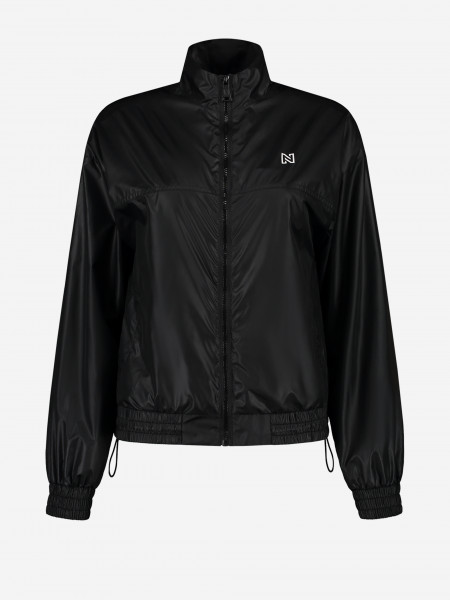 Shiny jacket with logo