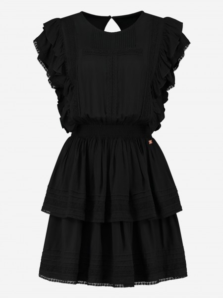 DRESS WITH RUFFLES AND LACE