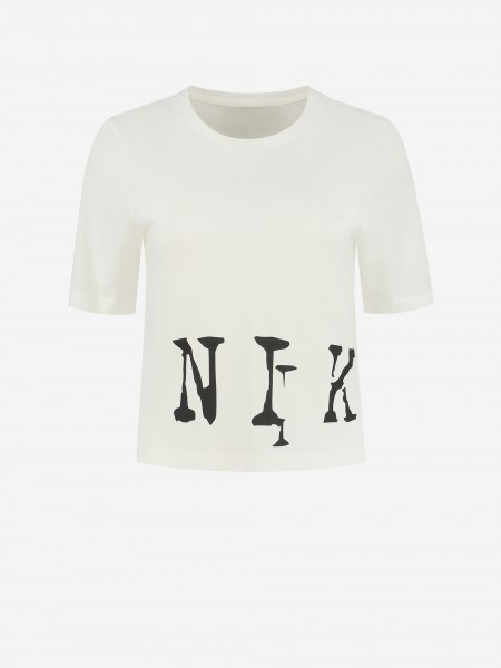 CROPPED T-SHIRT WITH NIKKIE LOGO