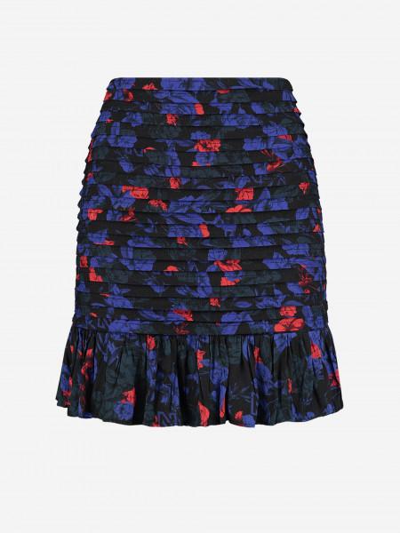 Pleated Flower print mini skirt