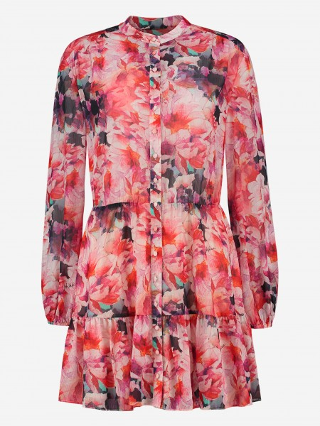 DRESS WITH ALL OVER FLOWER PRINT