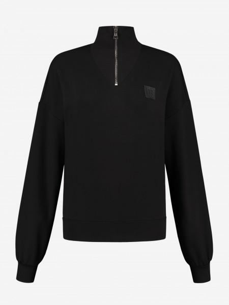 Sportieve sweater met rits