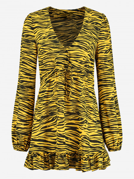 DRESS WITH ALL-OVER TIGER PRINT