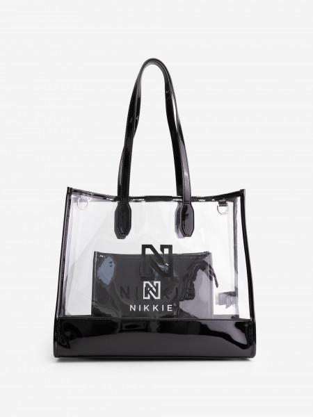 Transparent Shopper with make-up bag