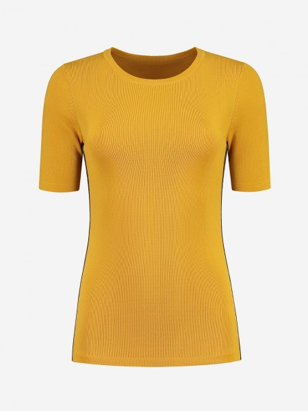 Yellow top with logo band